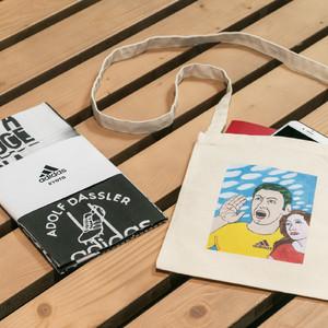京都初のアディダス直営店が四条烏丸に、横尾忠則デザインのノベルティ展開