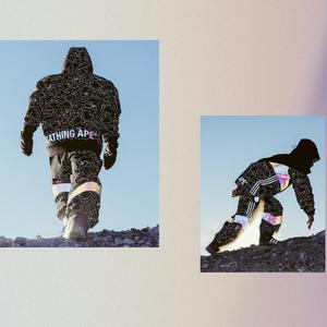 アディダス スノーボーディング×ベイプ、カモ柄を用いた全5型のアイテム発売