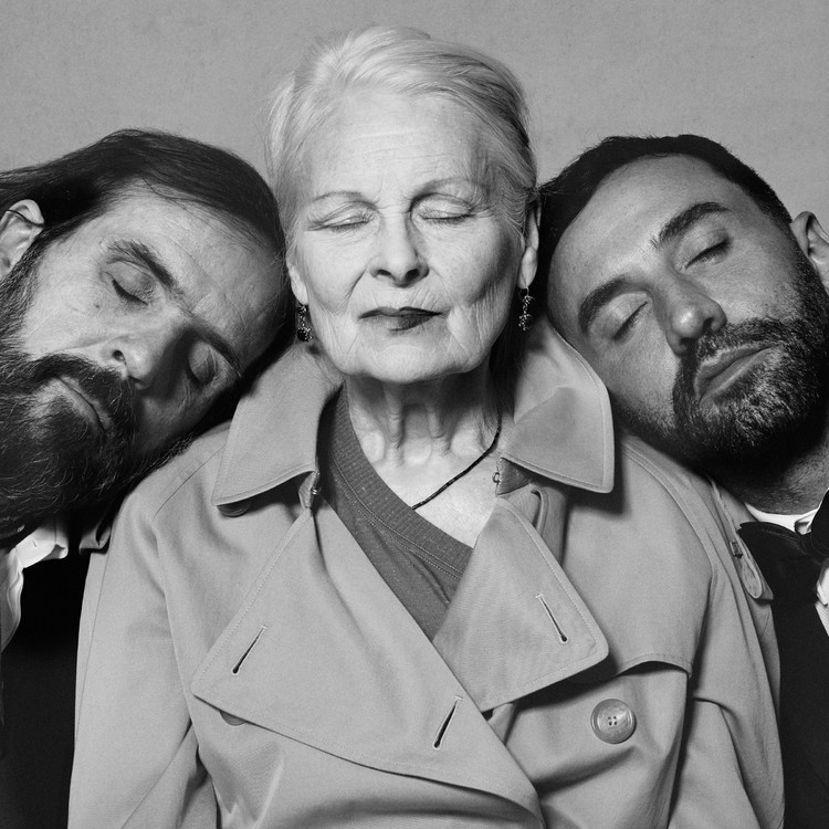 Portraits of Riccardo Tisci, Vivienne Westwood and Andreas Kronthaler