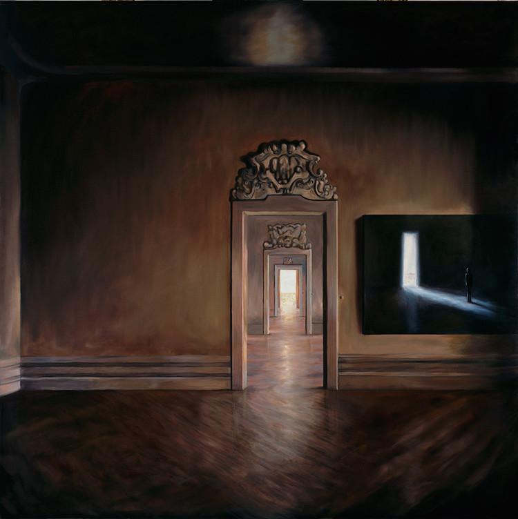「L' Énigme」2016 キャンバスに油彩 200x200cm