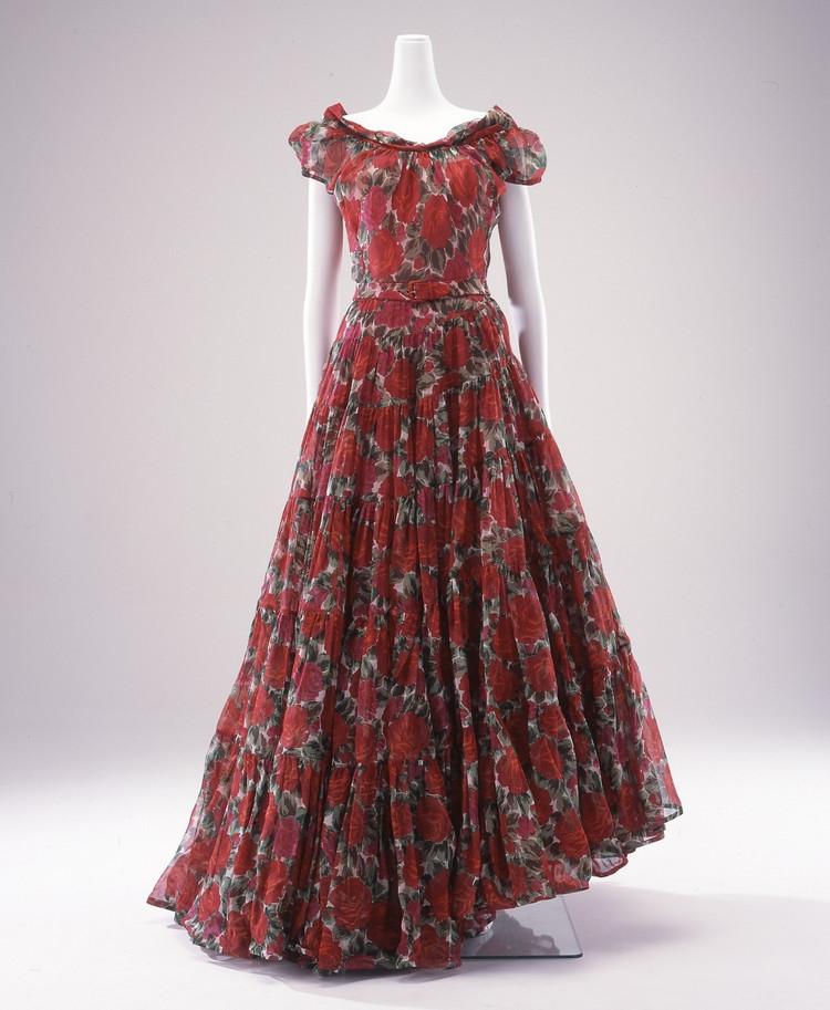 クリスチャン・ディオール《ディナー・ドレス「カラカス」》1953年