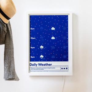 スマホ依存解消?天気がすぐわかるスマートポスターが登場