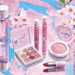 M・A・Cからパッケージに花びらが舞う新作が登場、桜の香りがついたミスト状化粧水も