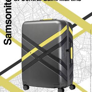 「サムソナイト」がセントマとのコラボモデル発売、ロンドンのマップをデザインに採用