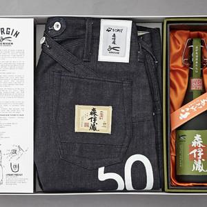 デンハム×森伊蔵酒造、デニムと極上 森伊蔵のセットを日本橋高島屋S.C.限定で発売